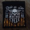 T-shirt Born to Ride(texte jaune)