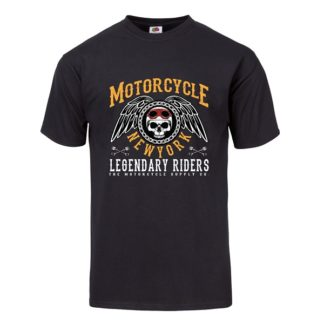T-shirt Motorcycle New York (noir)