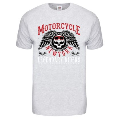 T-shirt Motorcycle New York (gris clair)