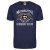 T-shirt Motorcycle New York (bleu marine)