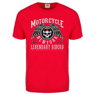 T-shirt Motorcycle New York (rouge)